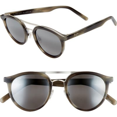 Maui Jim Sunny Days 4m Polarizedplus2 Round Sunglasses - Grey Horn/ Neutral Grey