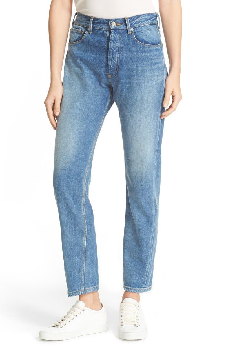 LA VIE REBECCA TAYLOR Beatrice High Waist Crop Straight Leg Jeans, Main, color, 424