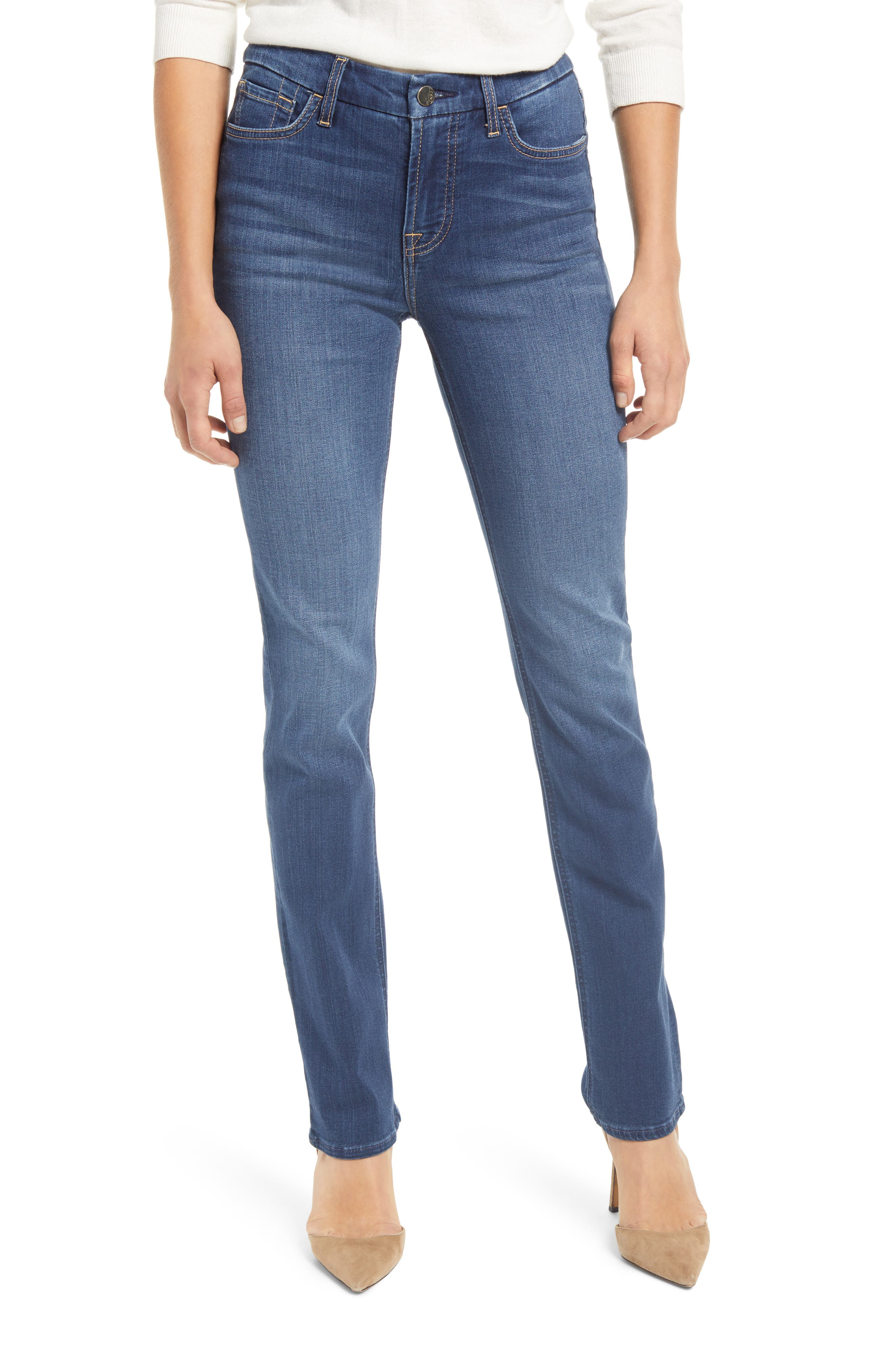 By 7 For All Mankind High Waist Slim Straight Leg Jeans