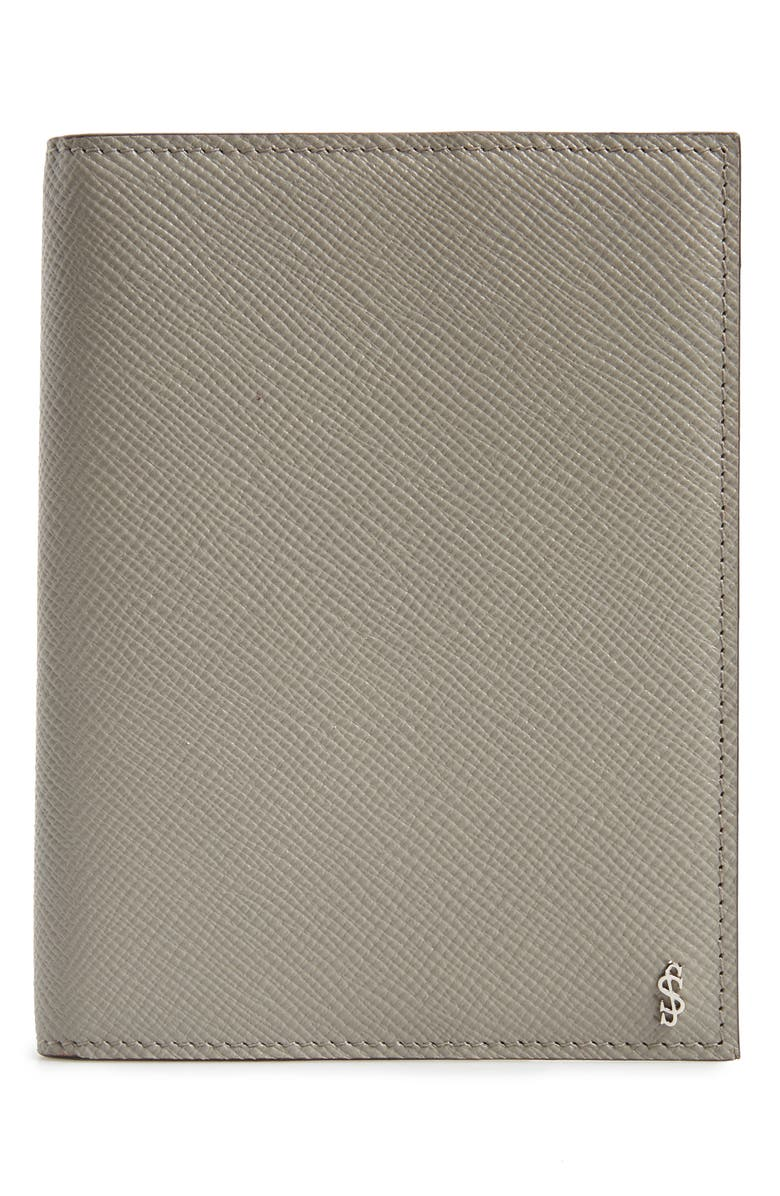 SERAPIAN MILANO Evolution Leather Passport Case, Main, color, 020
