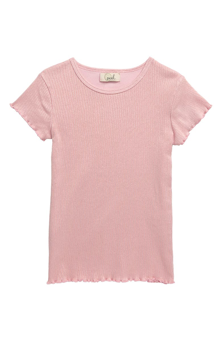 PEEK AREN'T YOU CURIOUS Shimmer Shirt, Main, color, PINK