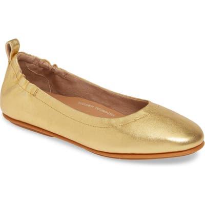 Fitflop Allegro Ballet Flat- Metallic