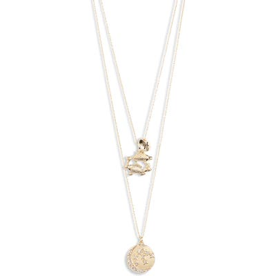 Knotty Pisces Astrological Charm Layered Necklace