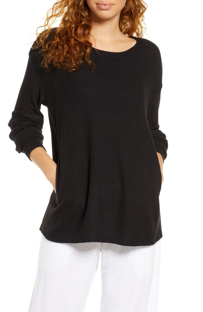 SOCIALITE Long Sleeve Thermal Top, Main, color, 001