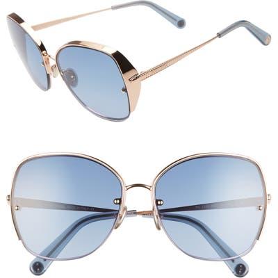 Roberto Cavalli 60Mm Sunglasses - Gold/ Gradient Blue
