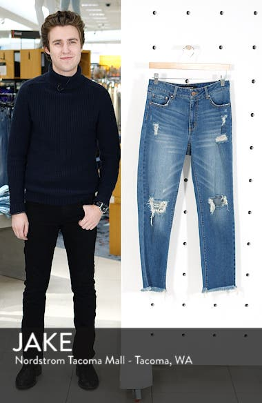 Ripped Ankle Straight Leg Jeans, sales video thumbnail
