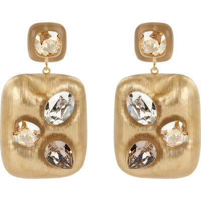 Alexis Bittar Future Antiquity Crystal Studded Lucite Drop Earrings