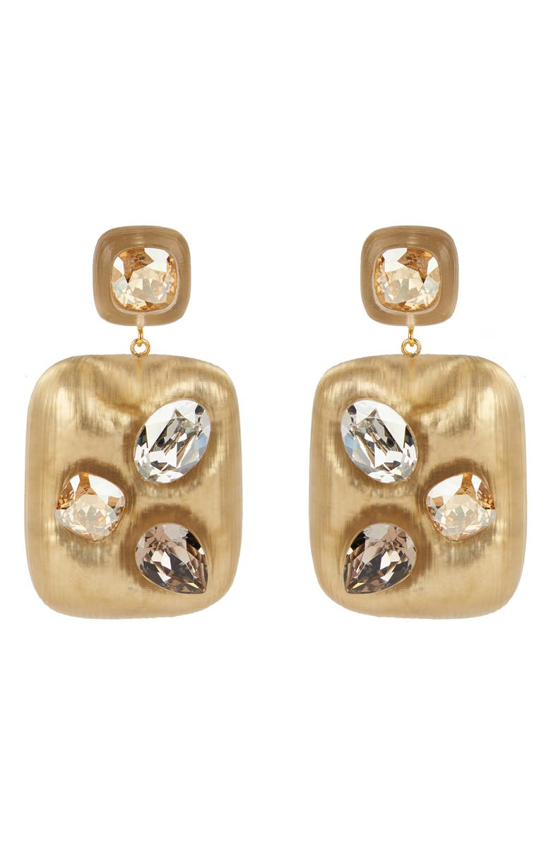 ALEXIS BITTAR Future Antiquity Crystal Studded Lucite<sup>®</sup> Drop Earrings, Main, color, TAUPE