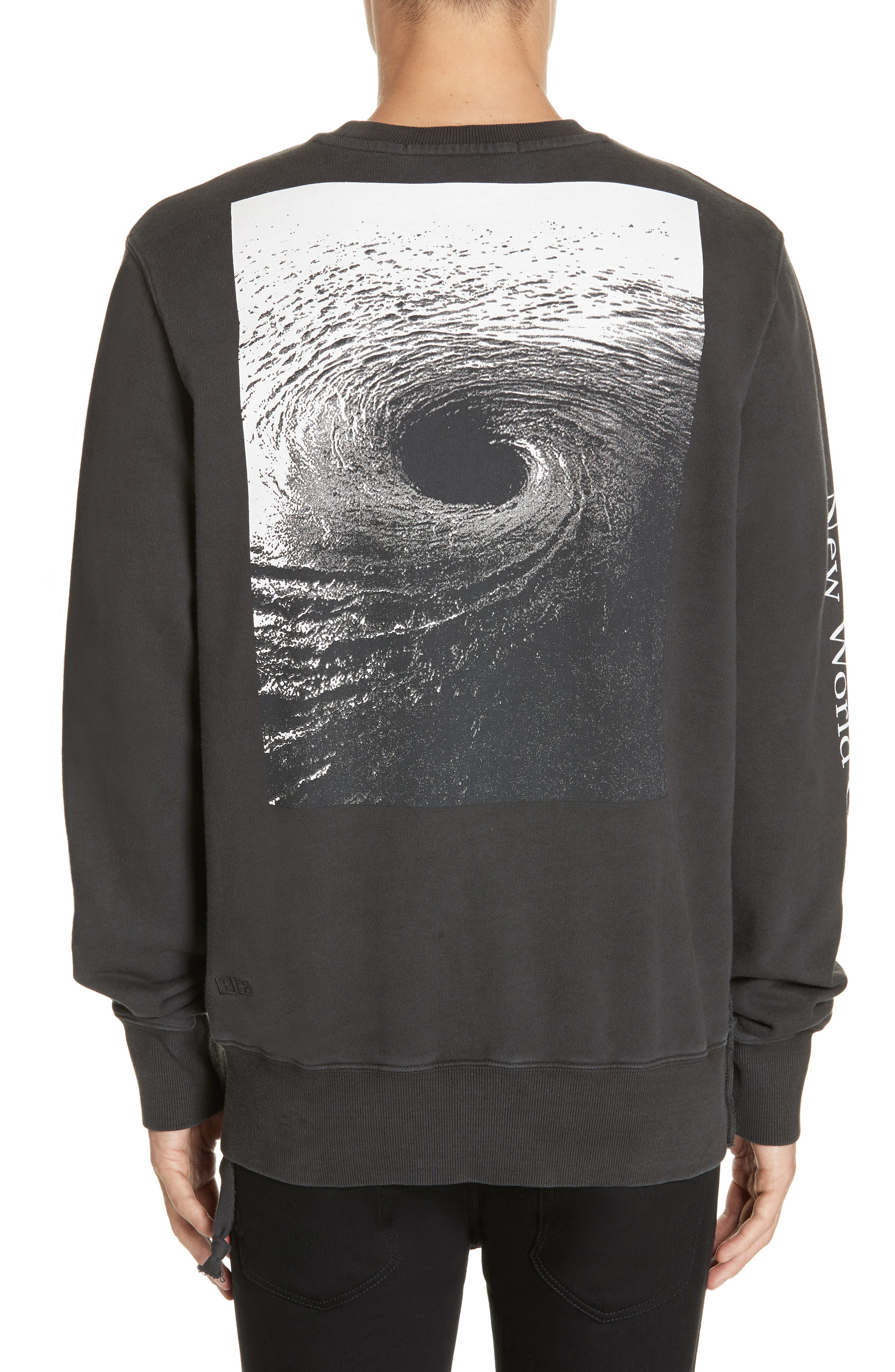 ,                             Whurld Order Graphic Sweatshirt,                             Alternate thumbnail 2, color,                             BACK TO BLACK