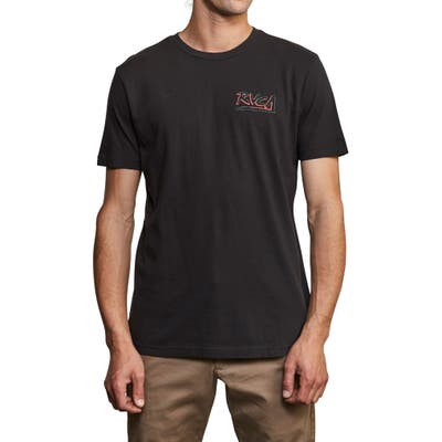Rvca Offset Logo Graphic T-Shirt, Black