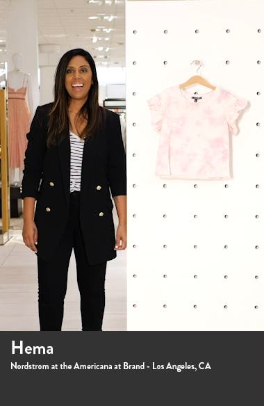Kids' The Maja Flutter Sleeve French Terry Top, sales video thumbnail