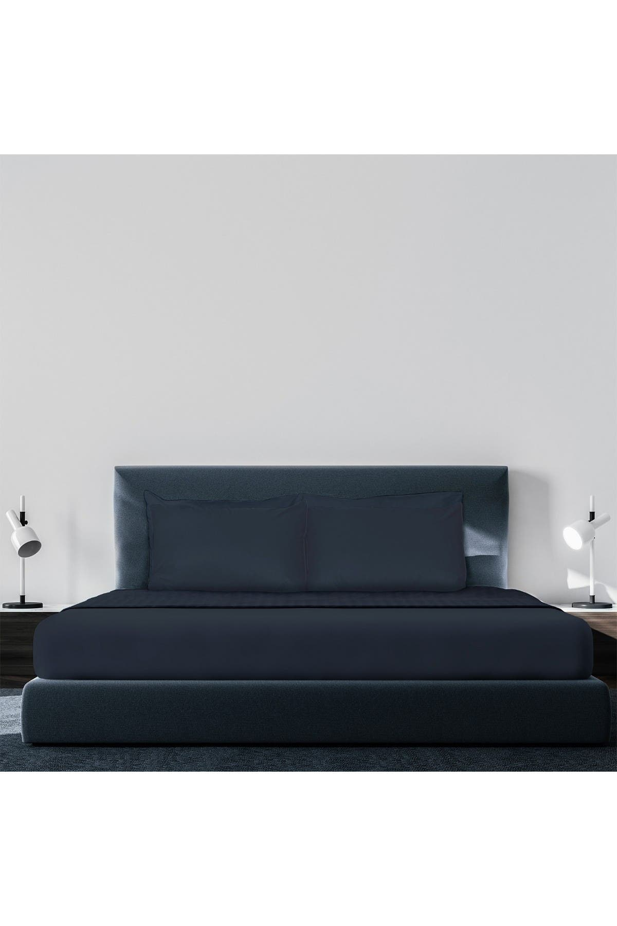 Image of Pillow Guy Luxe Soft & Smooth Tencel 6-Piece Sheet Set - Dark Navy - Cal King Size
