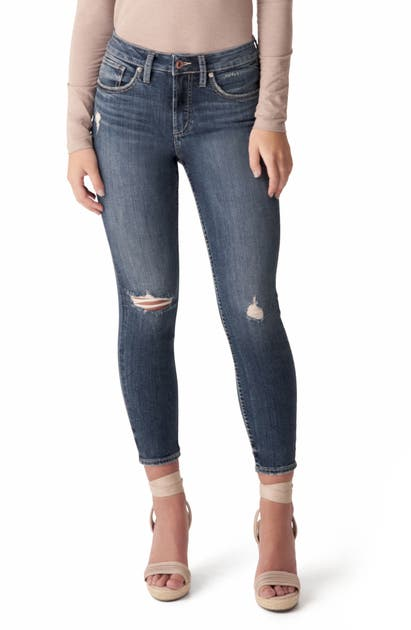 Silver Jeans Co. Skinny jeans AVERY CROP SKINNY JEANS