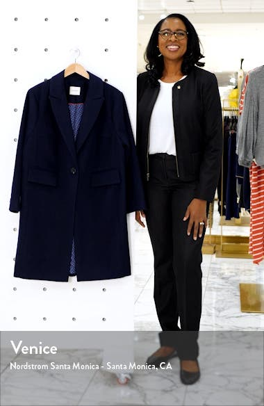 One-Button Plush Topper Coat, sales video thumbnail