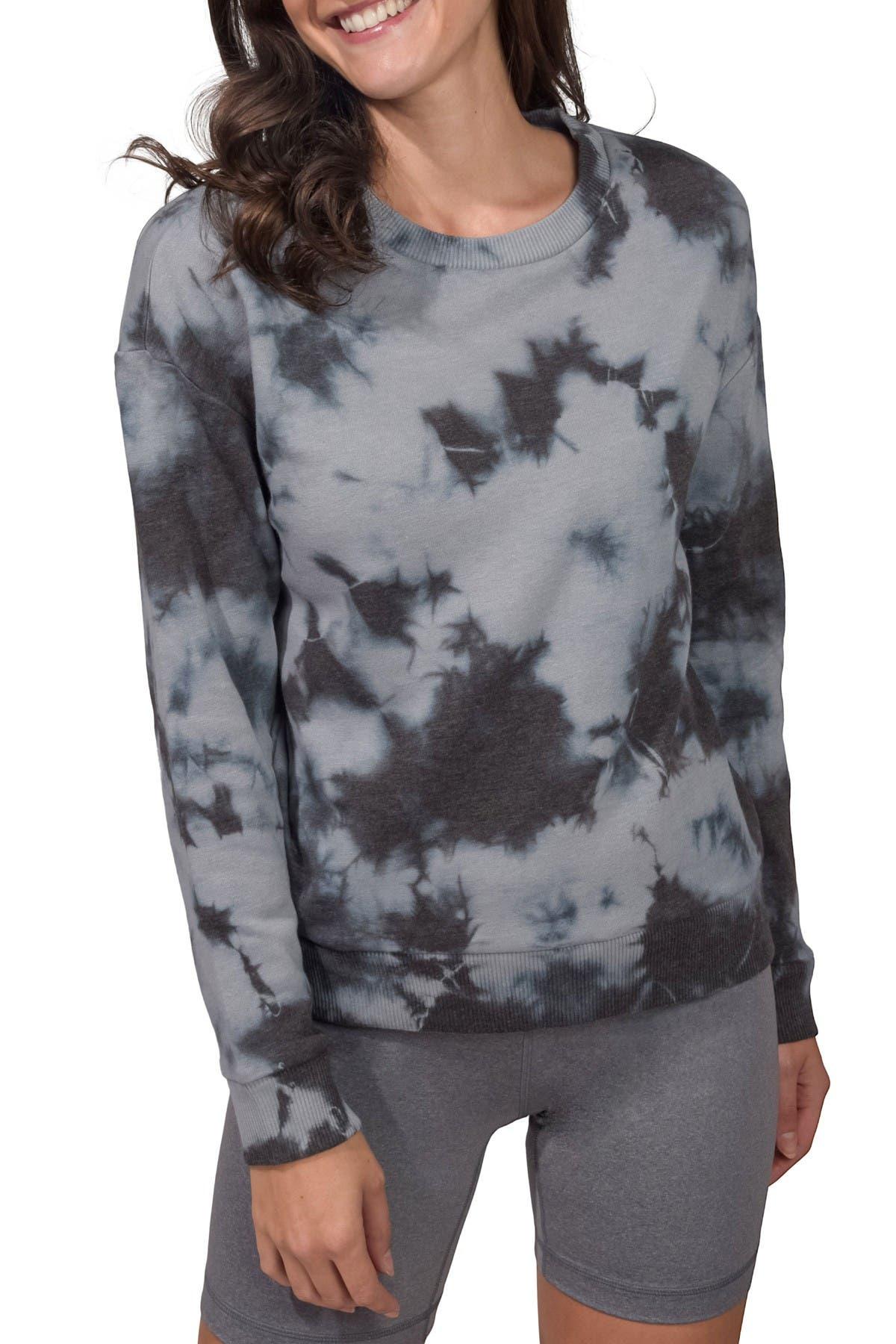 Image of 90 Degree By Reflex Brushed Tie Dye Sweatshirt