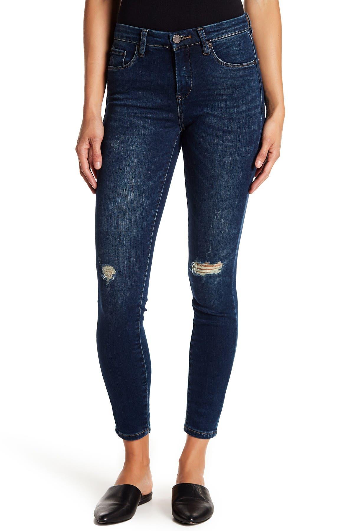 Image of BLANKNYC Denim Ripped Mid Rise Skinny Jeans