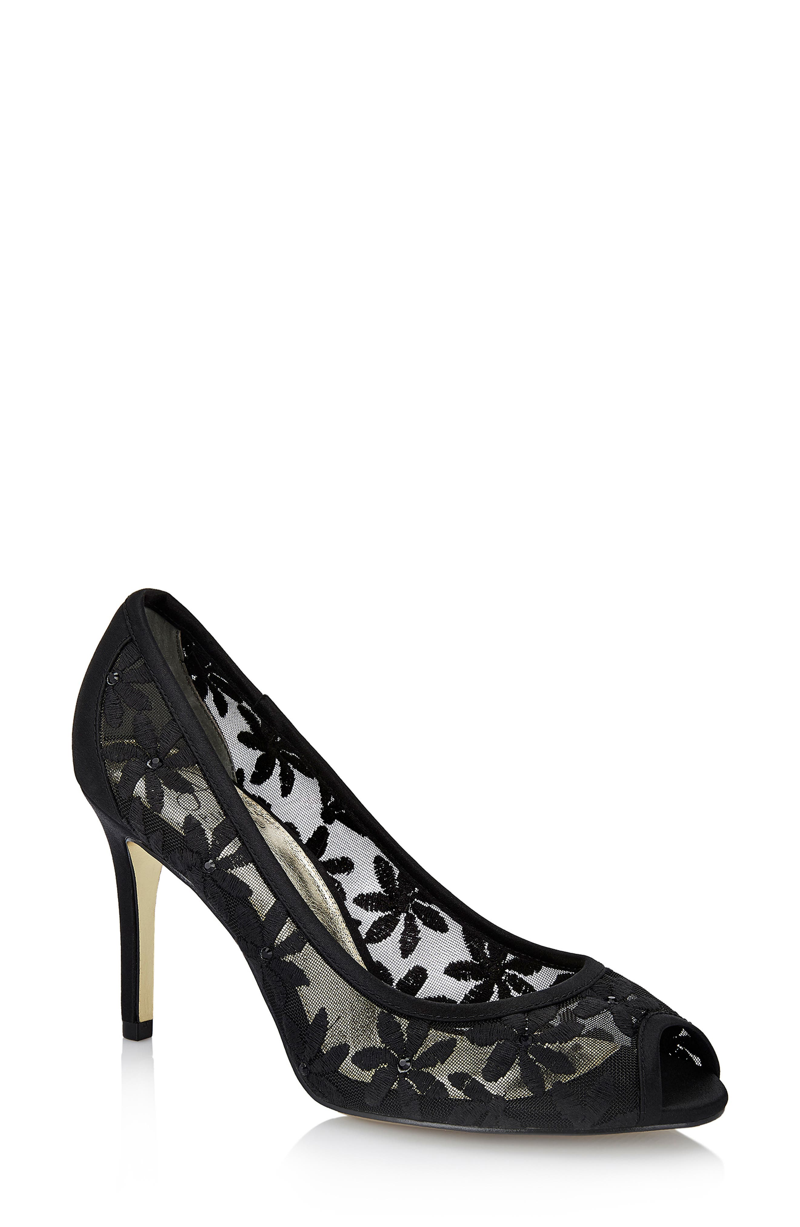 Adrianna Papell Frances Peep Toe Pump, Black