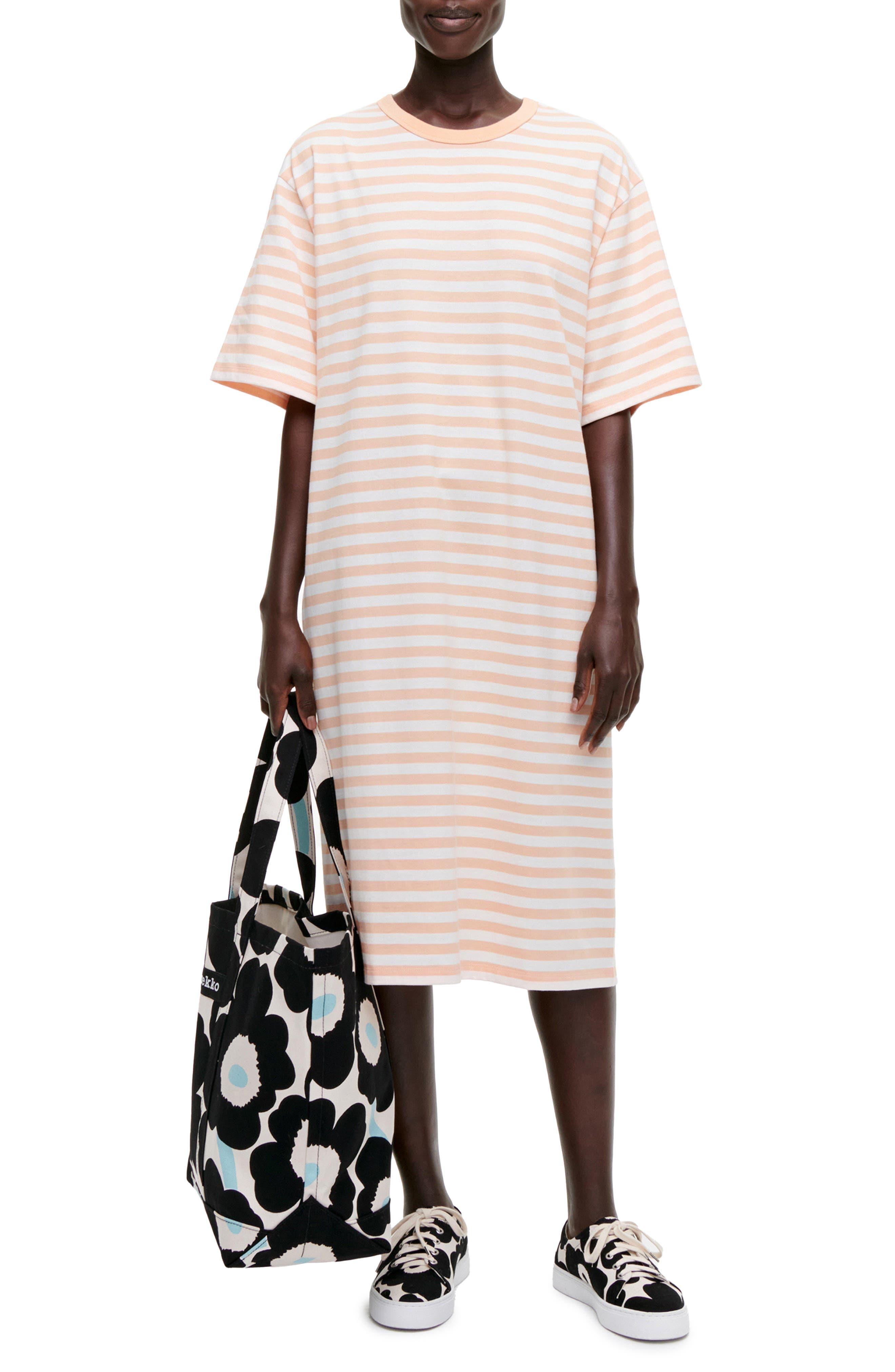 Aikamieli Stripe T-Shirt Dress