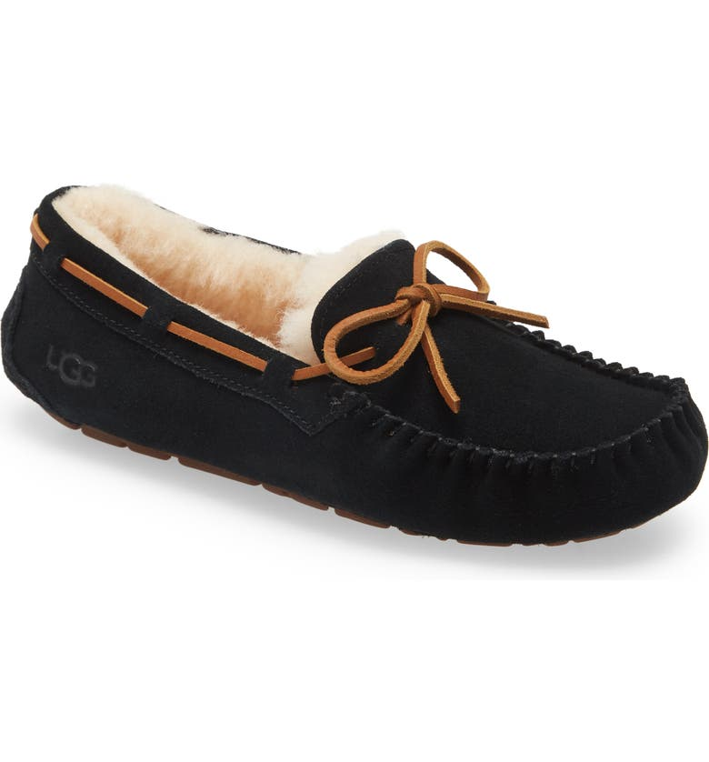 UGG<SUP>®</SUP> Dakota Slipper, Main, color, BLACK SUEDE