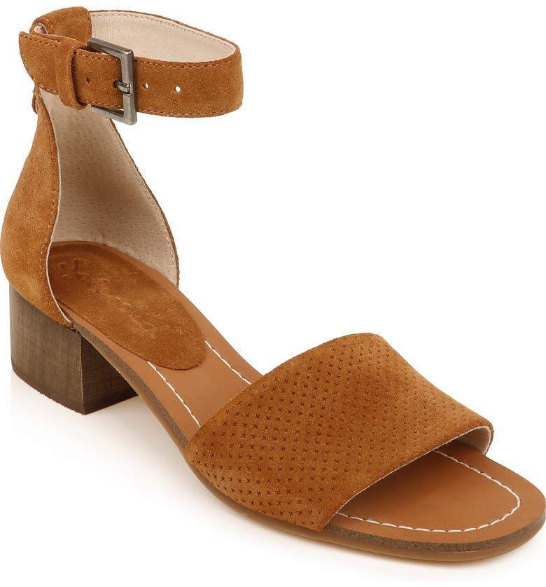 SPLENDID Lambert Ankle Strap Sandal, Main, color, TOBACCO SUEDE