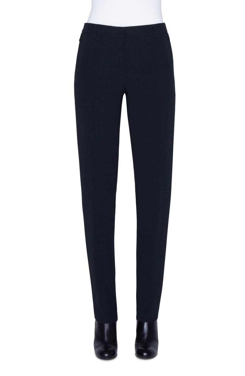 AKRIS Melvin Double Face Wool Blend Pants, Main, color, PINE