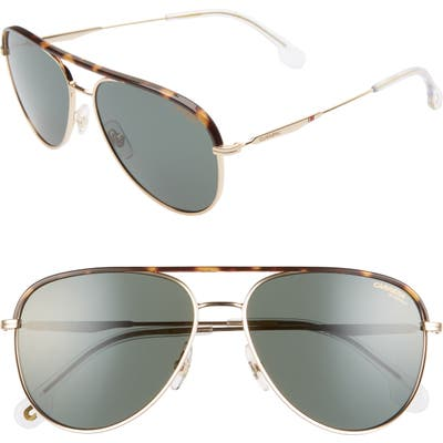 Carrera Eyewear 5m Aviator Sunglasses - Gold Green/ Green