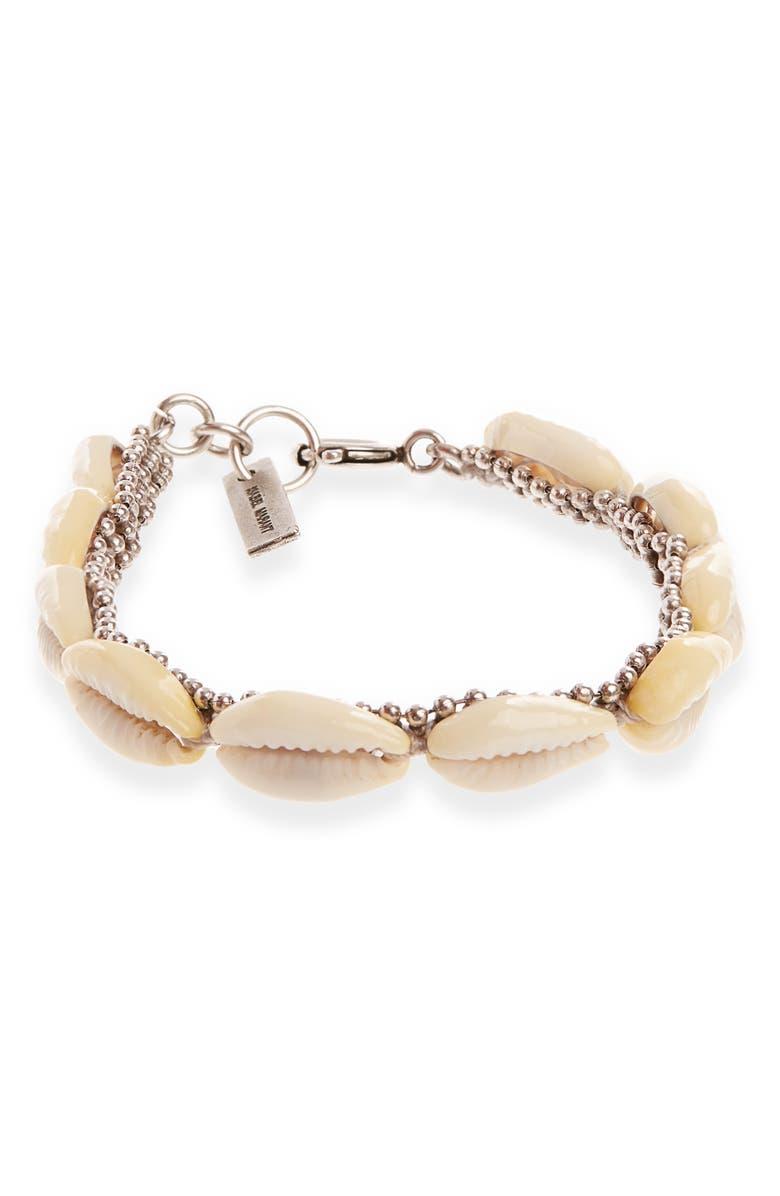 ISABEL MARANT Shell Line Bracelet, Main, color, 040