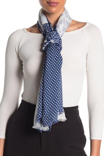 Image of kate spade new york stripey rose patchwork oblong scarf