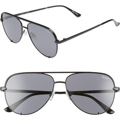 Quay Australia High Key Mini 5m Aviator Sunglasses - Black/ Smoke