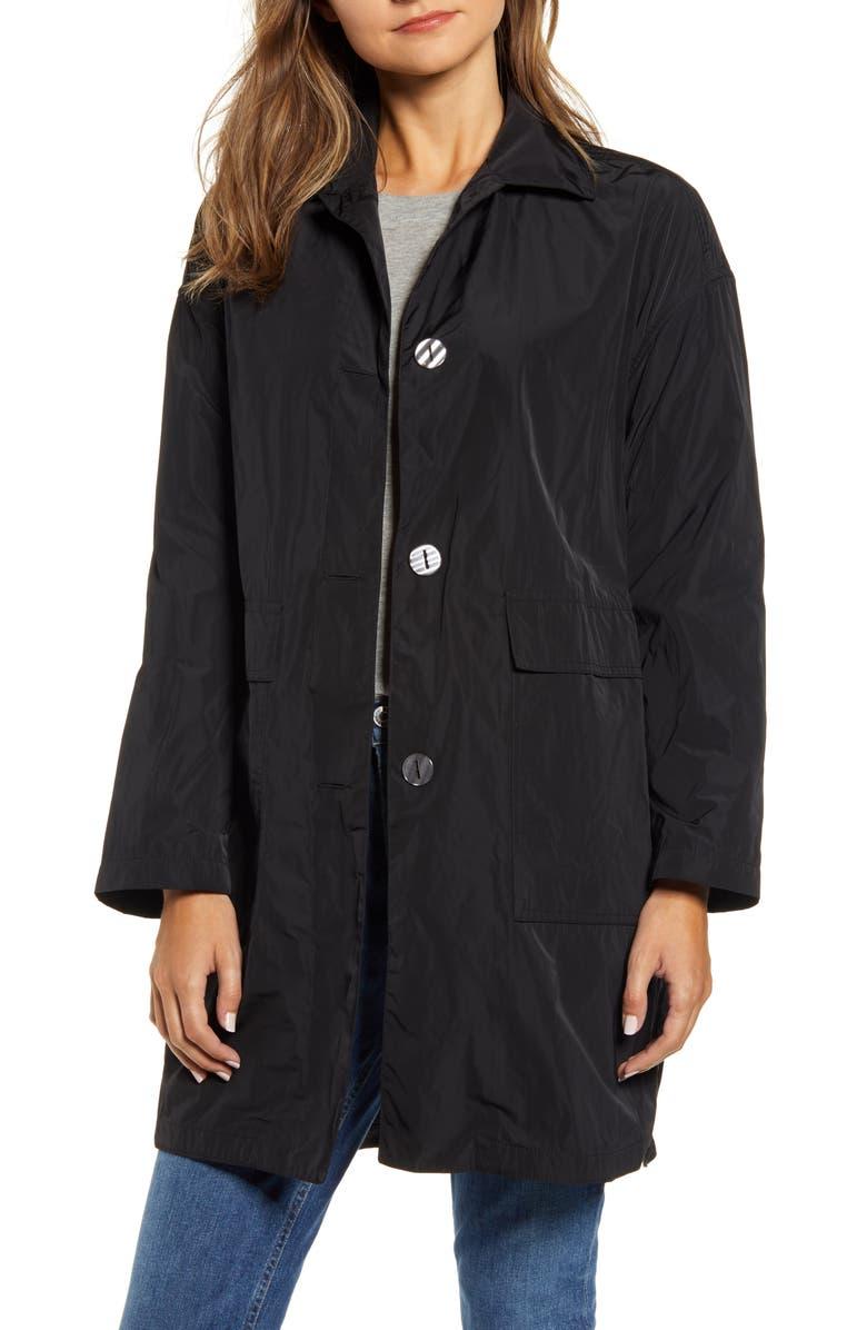MYCRA PAC Liza Krush Raincoat, Main, color, BLACK