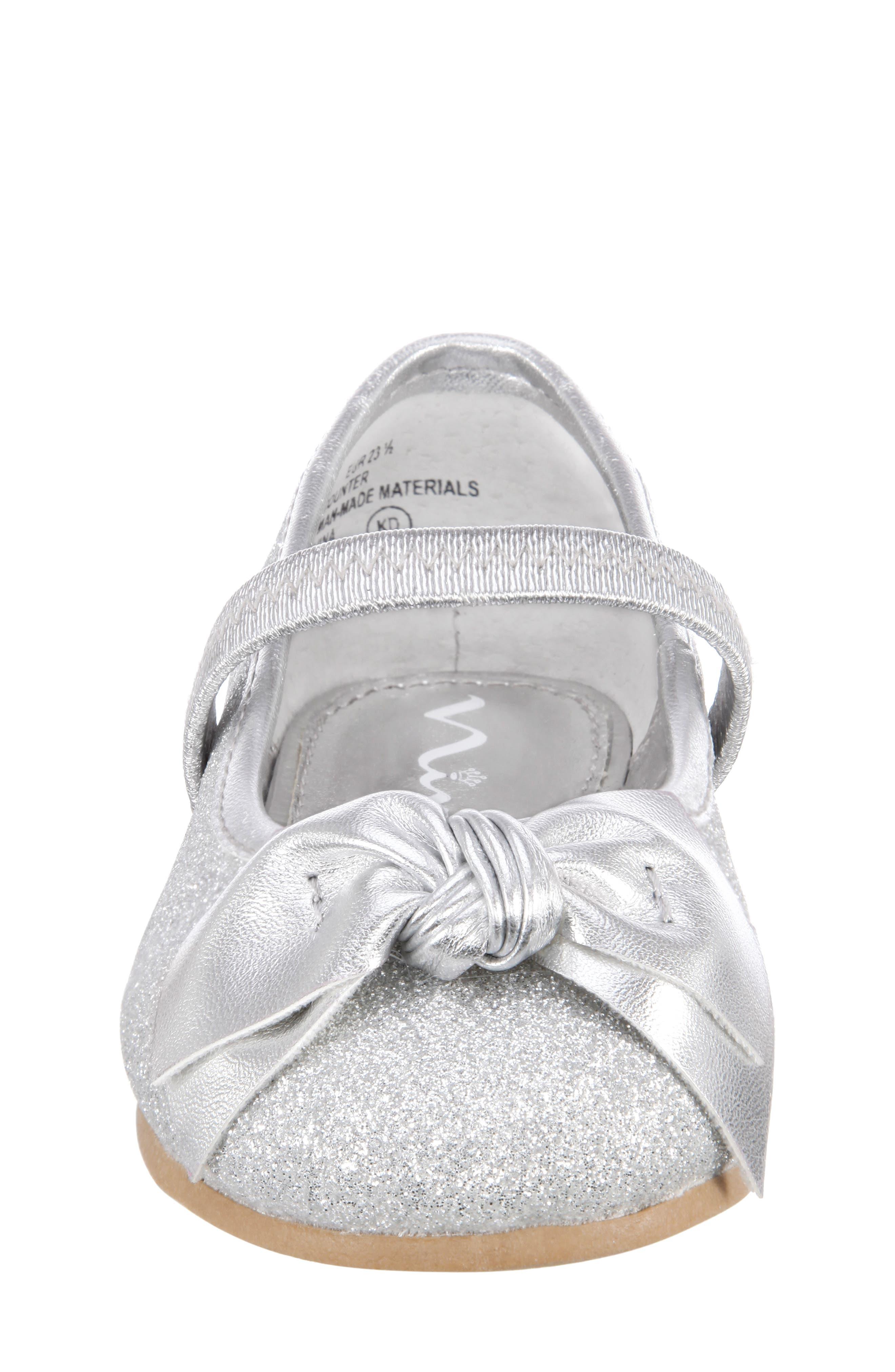 ,                             Liza Glitter Ballet Flat,                             Alternate thumbnail 4, color,                             SILVER GLITTER