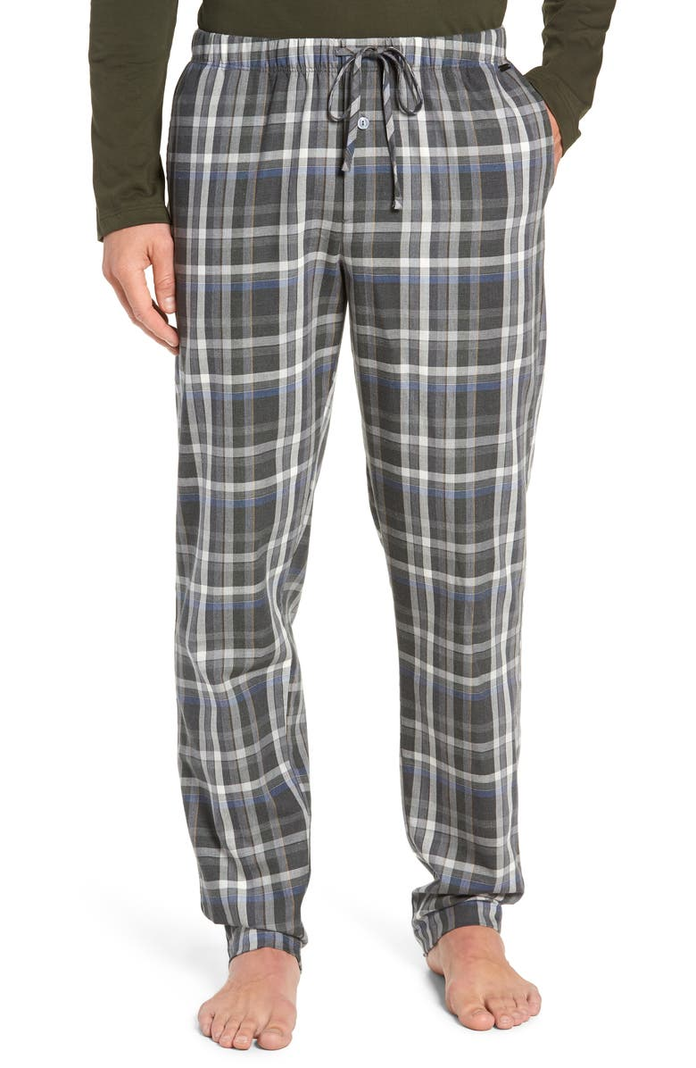 HANRO Loran Cotton Lounge Pants, Main, color, BIG KARO