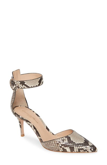 Gianvito Rossi Pumps GENUINE PYTHON ANKLE STRAP PUMP