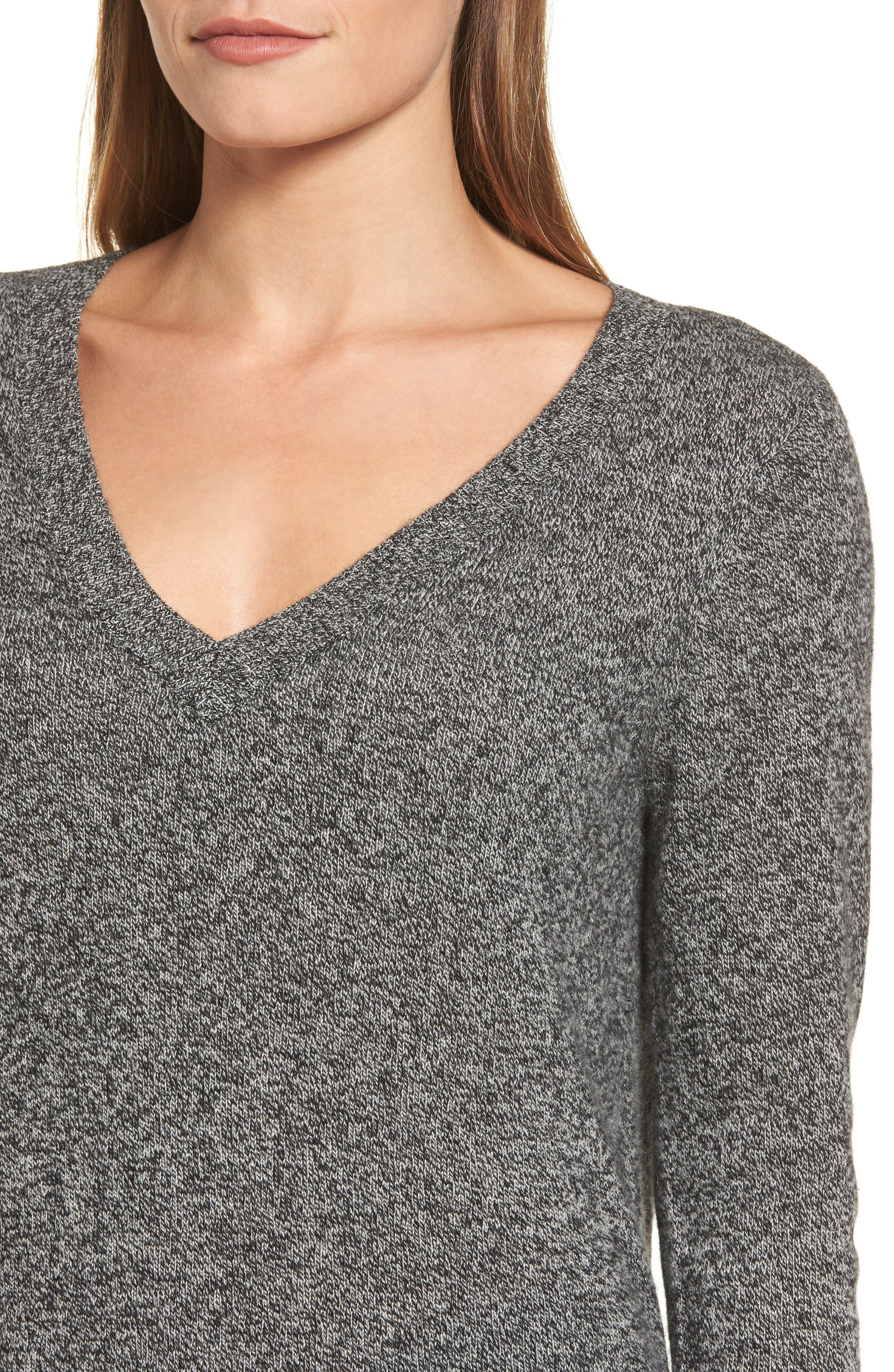 ,                             V-Neck Cashmere Sweater,                             Alternate thumbnail 16, color,                             004