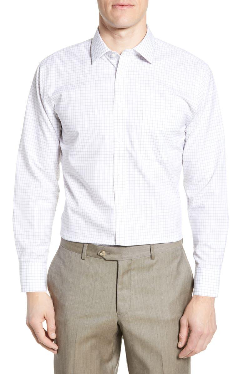 NORDSTROM MEN'S SHOP Smartcare<sup>™</sup> Trim Fit Check Dress Shirt, Main, color, 021
