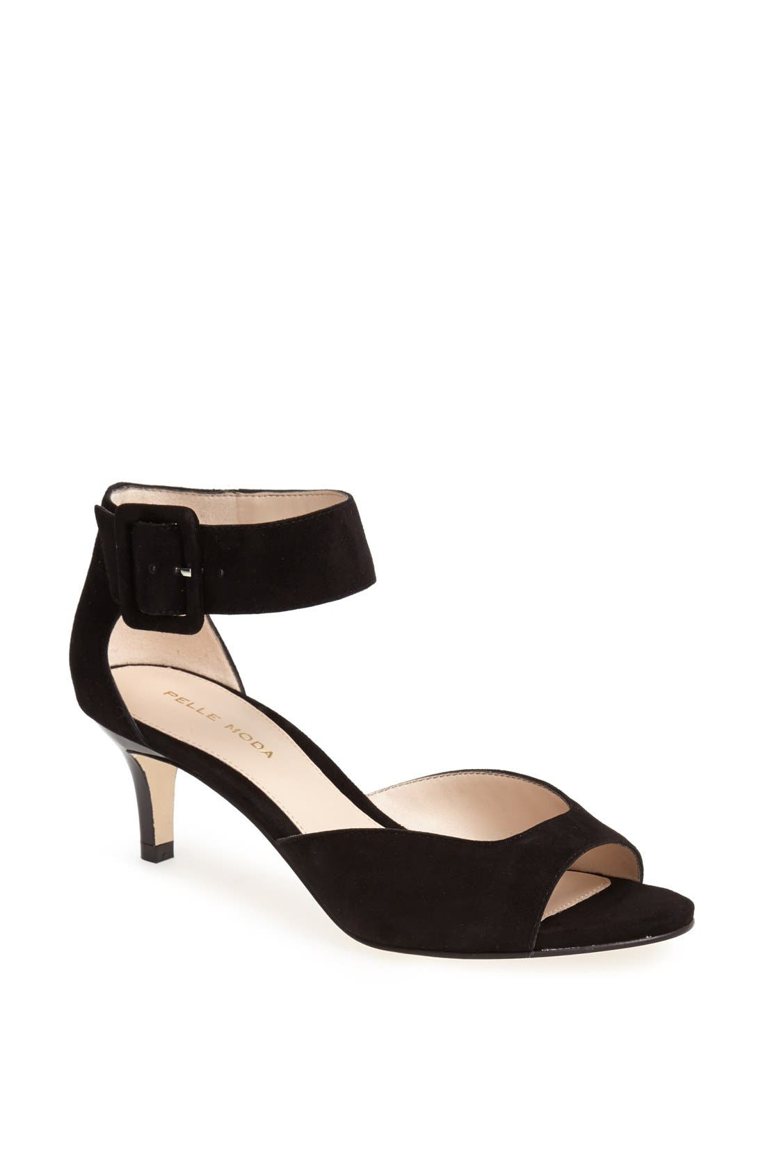 Caressably soft leather composes an elegant dress sandal with an alluring oversized buckle. Style Name: Pelle Moda \\\'Berlin\\\' Sandal (Women). Style Number: 477517. Available in stores.