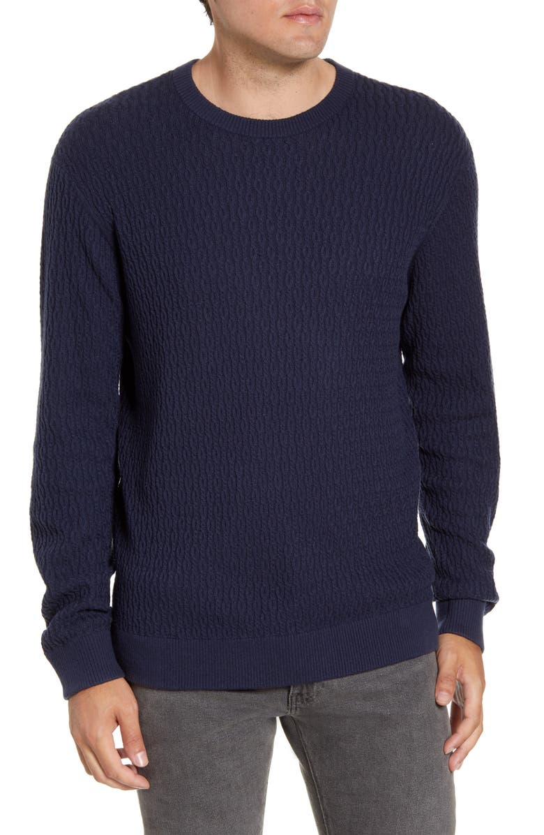 SOUTHERN TIDE Grove Cable Crewneck Sweater, Main, color, 408