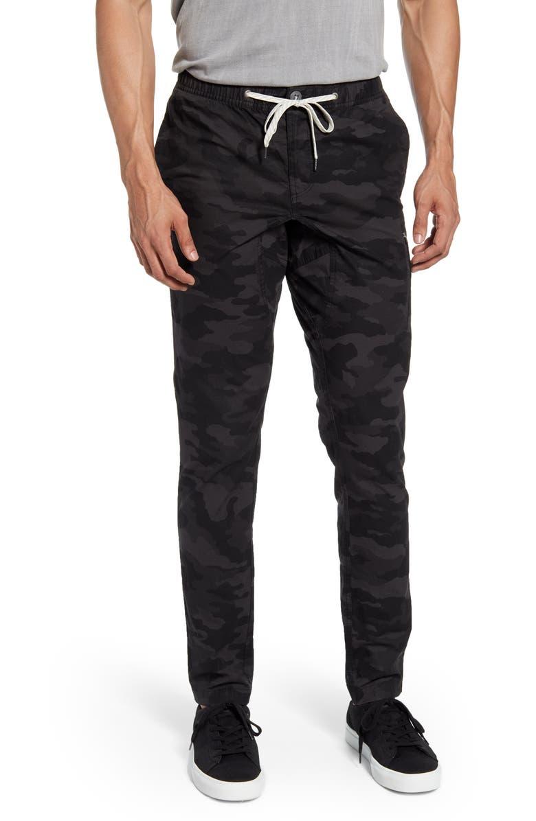 VUORI Ripstop Slim Fit Climber Pants, Main, color, BLACK CAMO