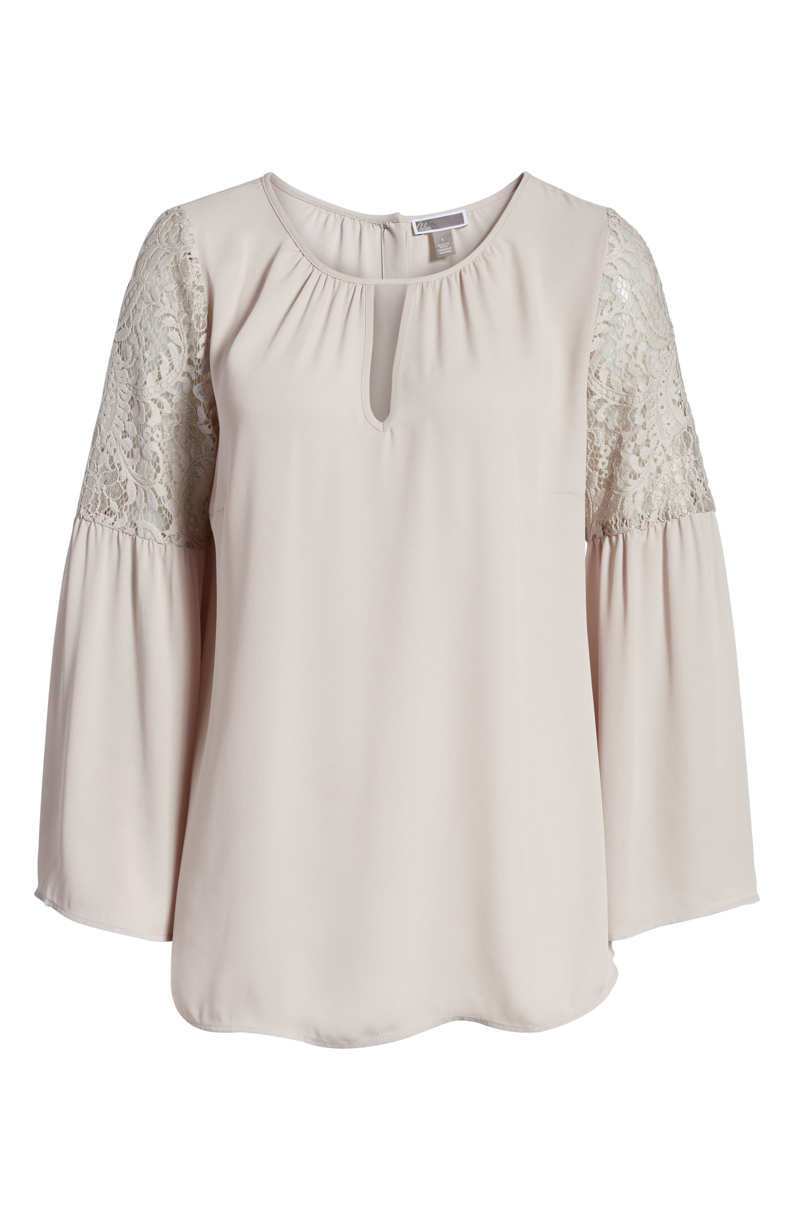 ,                             Lace Bell Sleeve Top,                             Alternate thumbnail 13, color,                             050