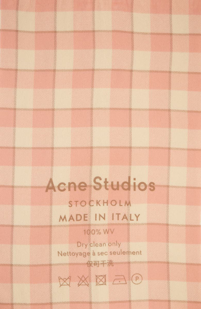 ACNE STUDIOS Cassiar Check Scarf, Main, color, WHEAT BEIGE/ PINK