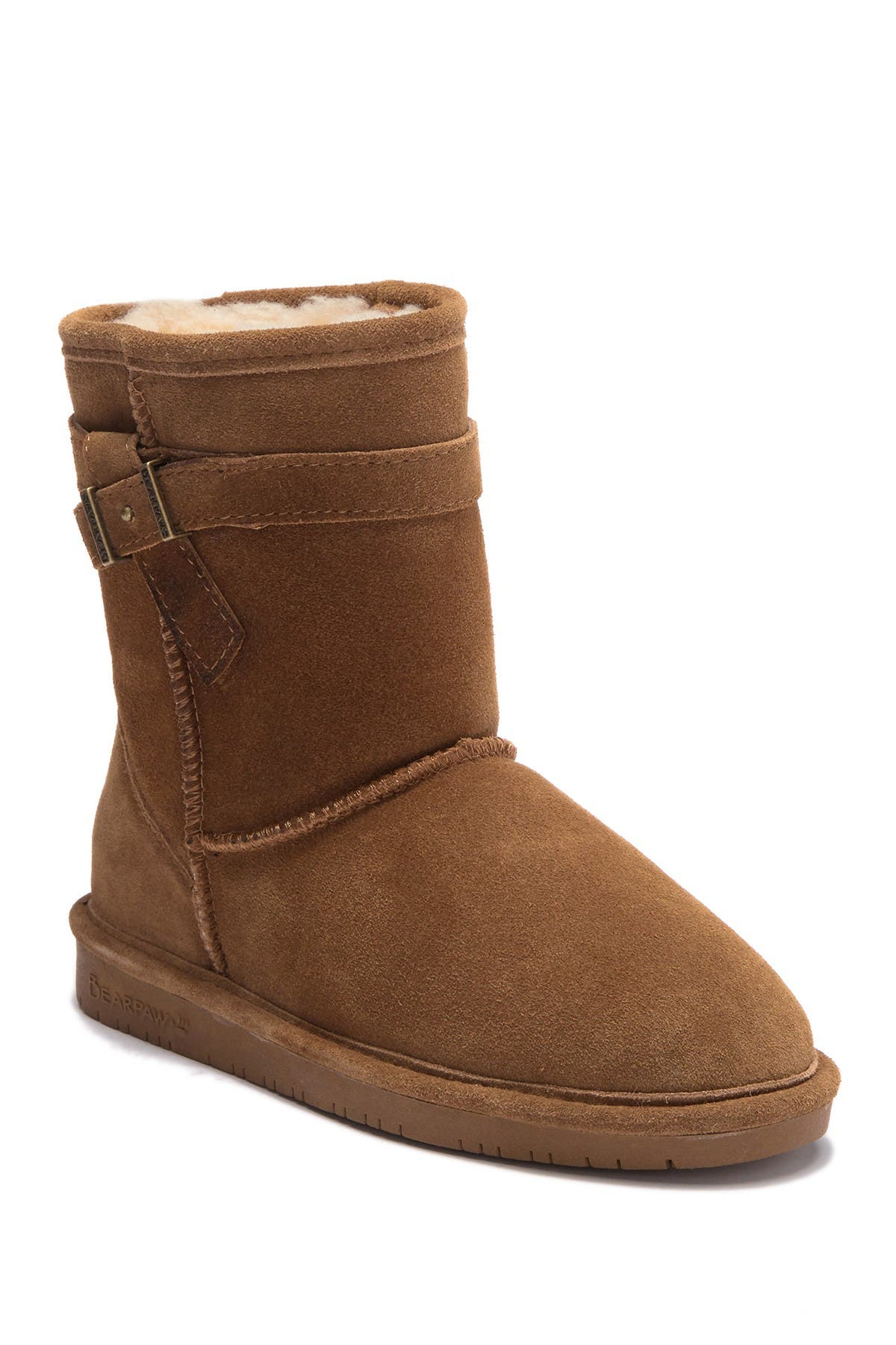 Image of BEARPAW Val Youth Suede Genuine Sheepskin Boot