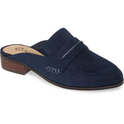 Bella Vita Binx Ii Loafer Mule, WW - Blue