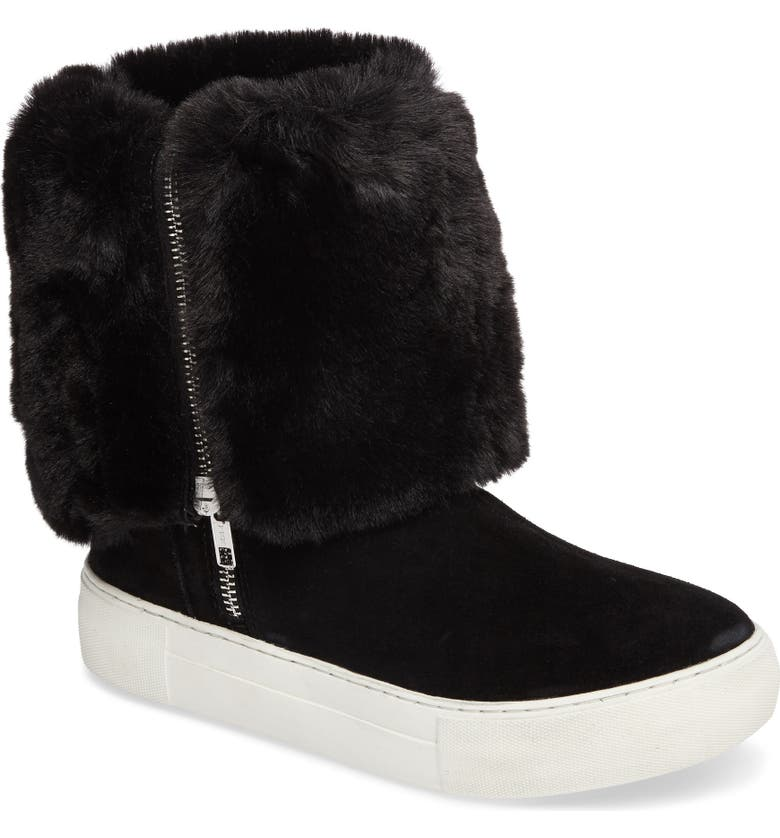 JSLIDES Apple Faux Shearling Boot, Main, color, 002