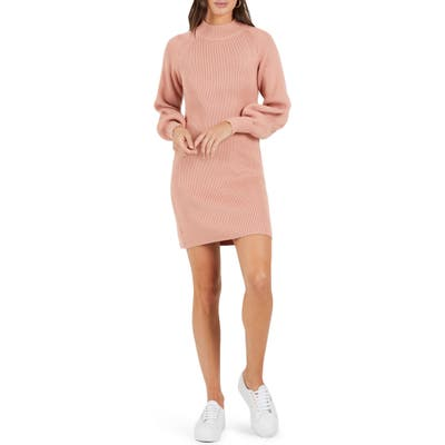 Cooper St In The Moment Sweater Dress, Pink