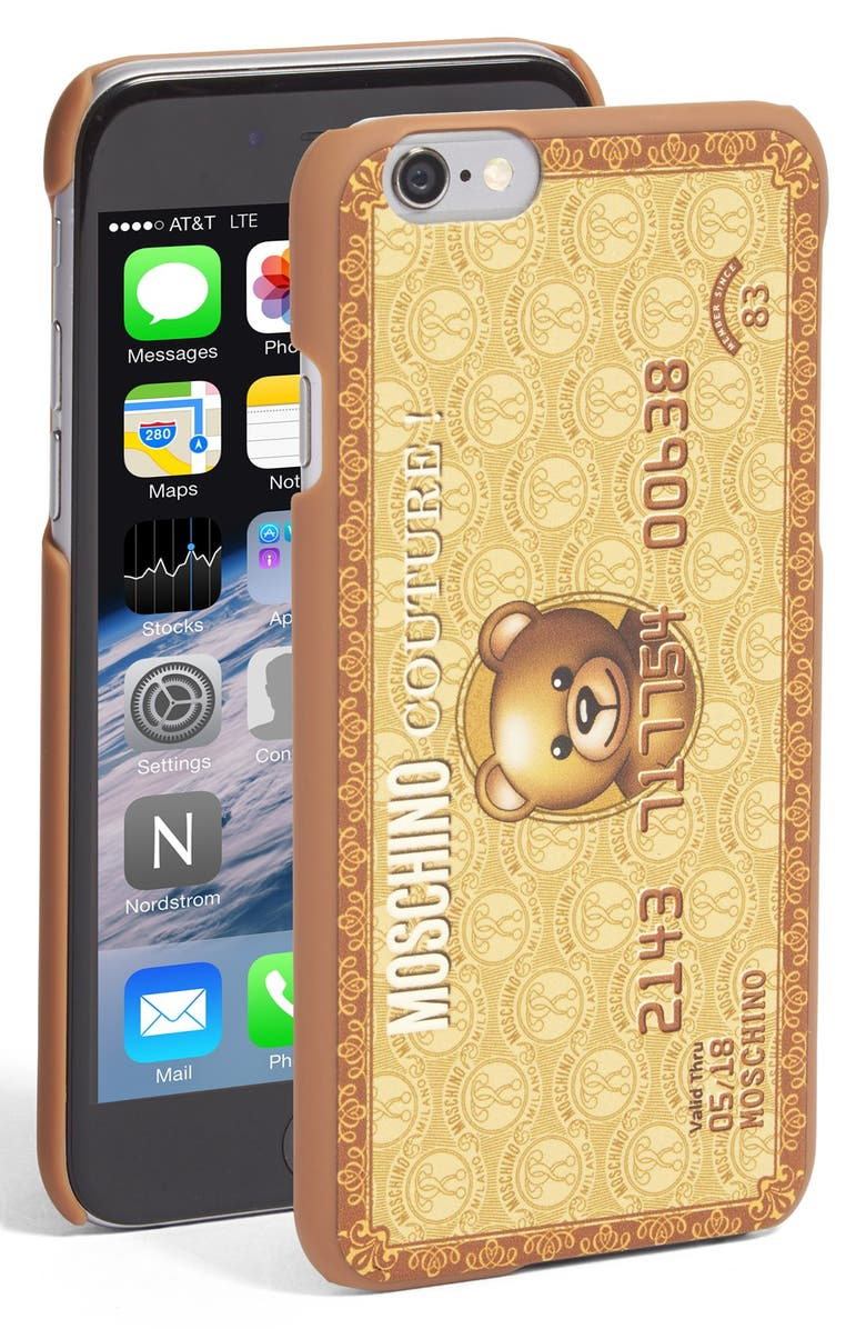 the latest 2ab61 71c97 Moschino 'Teddy Bear Card' iPhone 6 & 6s Case | Nordstrom