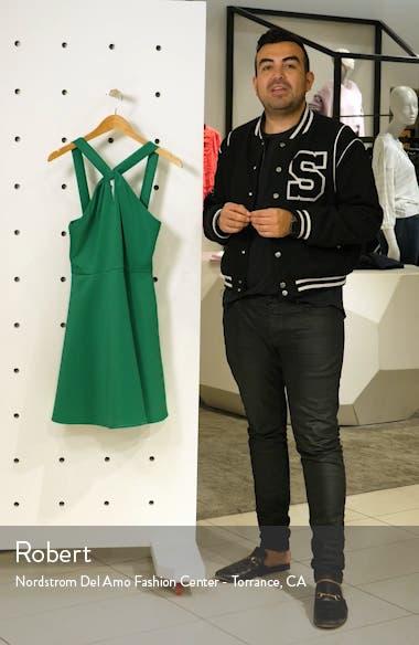 Freeda Twist Neck Skater Dress, sales video thumbnail
