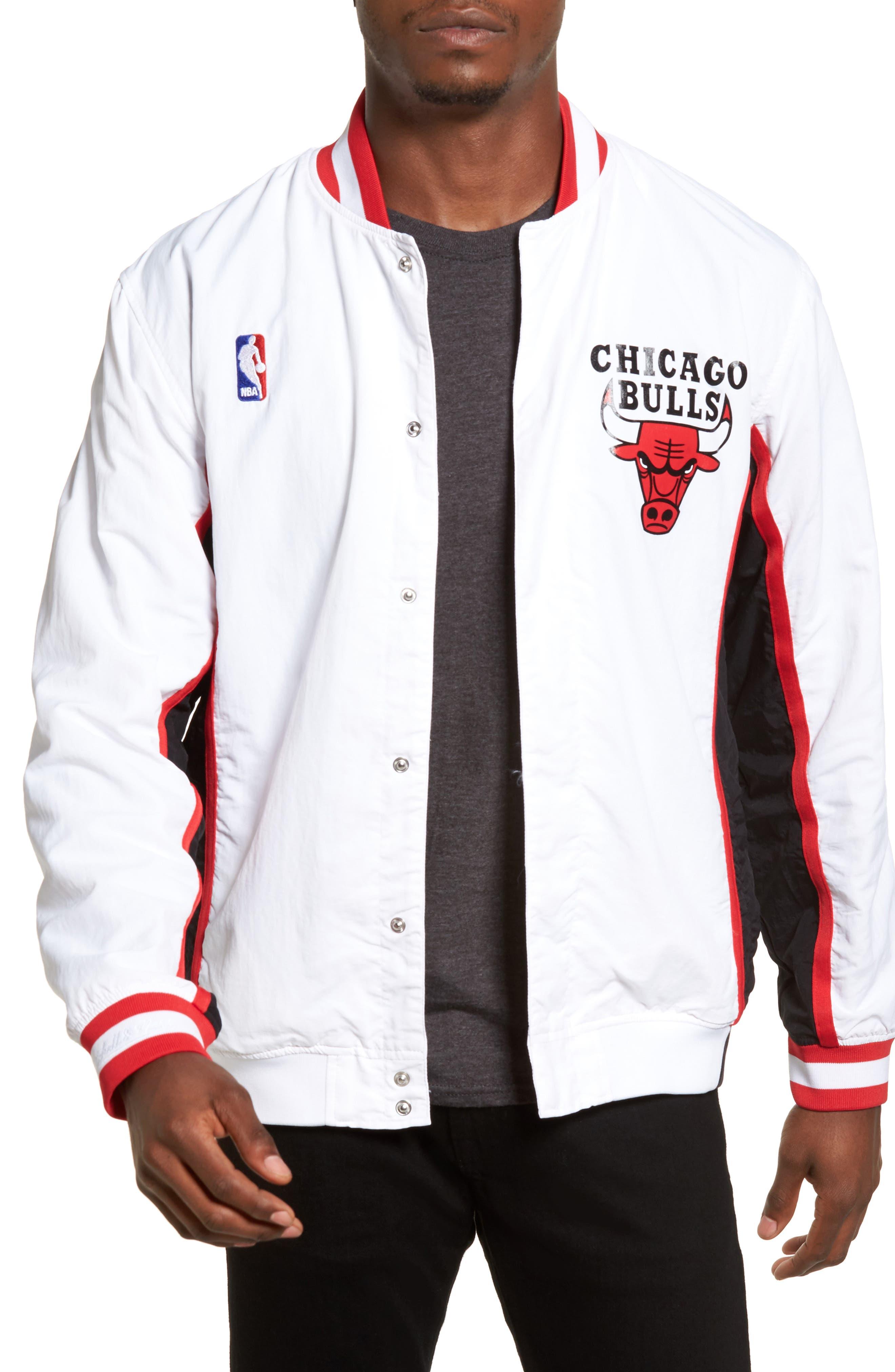 Mitchell /& Ness The Chicago Bulls Warm Up Jacket