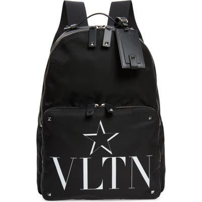 Valentino Vltn Logo Backpack - Black