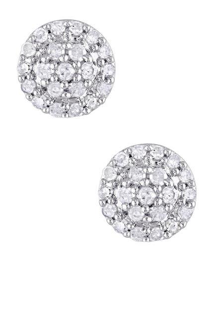 Image of Delmar Sterling Silver Diamond Earrings - 0.25 ctw