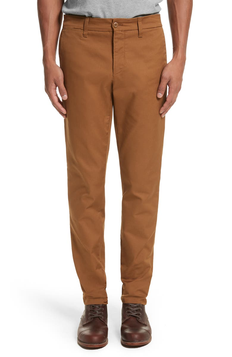 CARHARTT WORK IN PROGRESS Sid Chino Pants, Main, color, HAMILTON BROWN